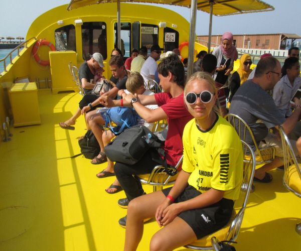 Glass Boat Tour. Hurghada. Red Sea. Egypt